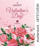 vertical  valentine's day... | Shutterstock .eps vector #1875713530