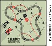 vector board game   road runner  | Shutterstock .eps vector #187571933