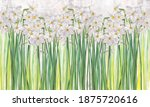 Daffodils Flowers Painted On A...
