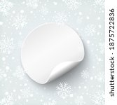 blank round banner template.... | Shutterstock . vector #1875722836