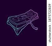 classic retro gempad icon. old... | Shutterstock . vector #1875722839