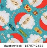 Cartoon Santa Claus With Gifts. ...