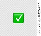 green check mark emoji icon.... | Shutterstock .eps vector #1875748690