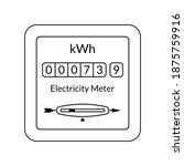 electric power outline meter.... | Shutterstock .eps vector #1875759916