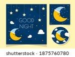 good night sky card. night... | Shutterstock .eps vector #1875760780