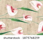 hand drawn dry and watercolor... | Shutterstock . vector #1875768259