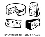vector black cheeses icon on... | Shutterstock .eps vector #187577138
