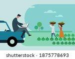 an agri business executive...   Shutterstock .eps vector #1875778693