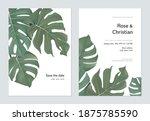 Foliage Wedding Invitation Card ...
