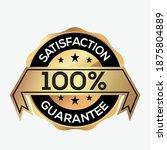 100  satisfaction guarantee...   Shutterstock .eps vector #1875804889
