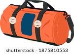 orange gym bag  illustration ... | Shutterstock .eps vector #1875810553