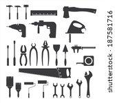 hand tools   set of vector... | Shutterstock .eps vector #187581716
