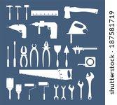 hand tools   set of vector... | Shutterstock .eps vector #187581719
