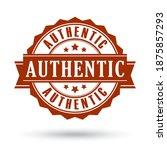 authentic vector certificate...   Shutterstock .eps vector #1875857293