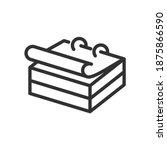 calendar  linear icon. editable ... | Shutterstock .eps vector #1875866590