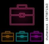 diplomat color neon set. simple ...