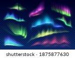 arctic aurora borealis  vector... | Shutterstock .eps vector #1875877630