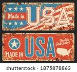 usa made  america flag metal... | Shutterstock .eps vector #1875878863