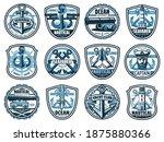 nautical heraldic icons with... | Shutterstock .eps vector #1875880366