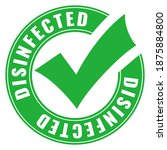 green circular disinfected sign ...   Shutterstock .eps vector #1875884800