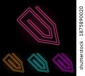clip color neon set. simple...
