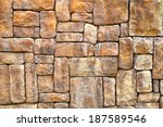 stone wall background. | Shutterstock . vector #187589546