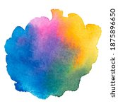 vector watercolor paint splash... | Shutterstock .eps vector #1875896650