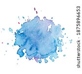 vector watercolor paint splash... | Shutterstock .eps vector #1875896653