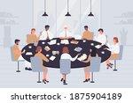 negotiation table vector... | Shutterstock .eps vector #1875904189