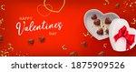 valentine gift box shape heart... | Shutterstock .eps vector #1875909526