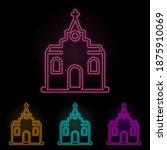 church color neon set. simple...
