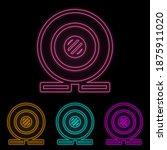 webcam color neon set. simple...