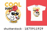 cool dude chicken with glasses... | Shutterstock .eps vector #1875911929