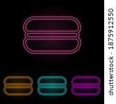 burger color neon set. simple...