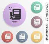 online marketing  press badge...