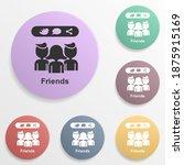 online marketing  friends badge ...