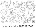 space elements collection.... | Shutterstock .eps vector #1875922543