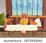friends or business partners... | Shutterstock .eps vector #1875930040