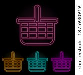 basket color neon set. simple...