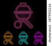 b b q color neon set. simple...