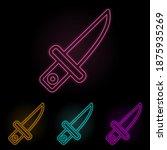 knife color neon set. simple...