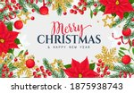 christmas frame template with... | Shutterstock .eps vector #1875938743