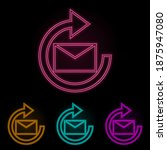 mail update sign color neon set....