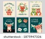 Wild Animals Greeting Cards Set....
