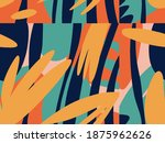 seamless abstract doodle... | Shutterstock .eps vector #1875962626