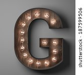 Letter G For Sign With Light...