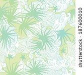 seamless summer pattern vector... | Shutterstock .eps vector #187600010