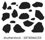 black silhouette set of stones... | Shutterstock .eps vector #1876066153