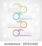four steps infographics on gray ... | Shutterstock .eps vector #187611620