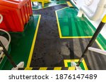 Safety Walkway On Ships Deck....
